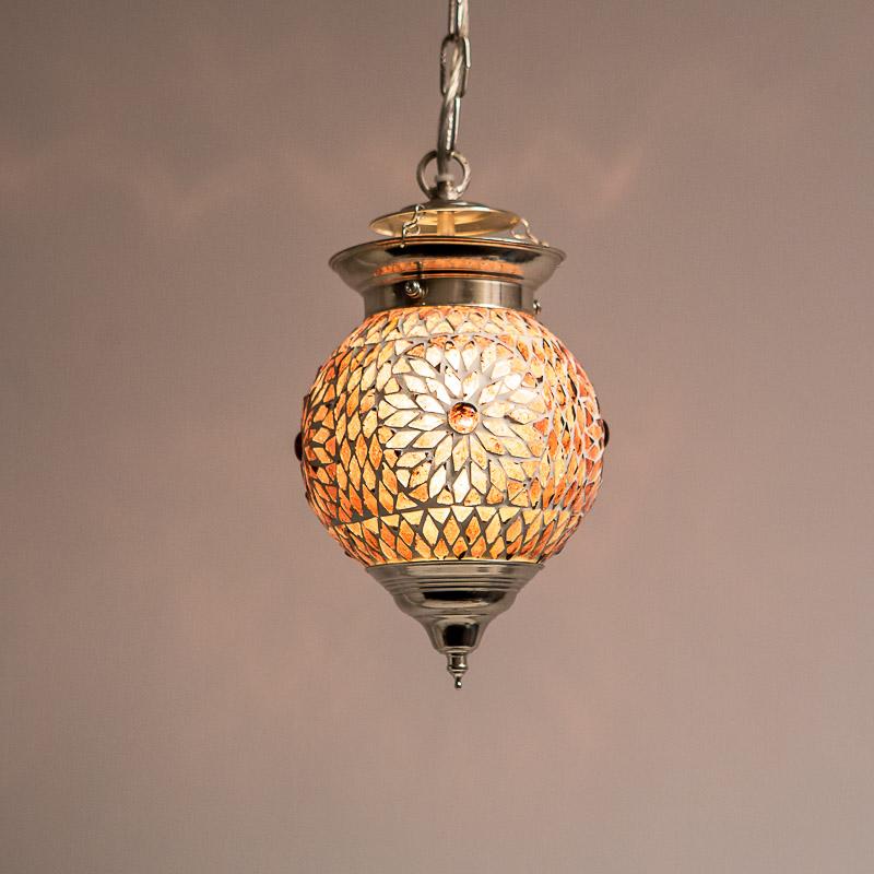Extreem oosterse mozaïek hanglamp - diameter 15 cm - Gomsa Webshop #BZ95