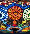 oosterse plafonniere meloen – multi colour – detail