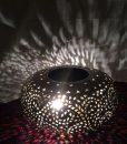Staande lamp ring filigrain metaal  (1)