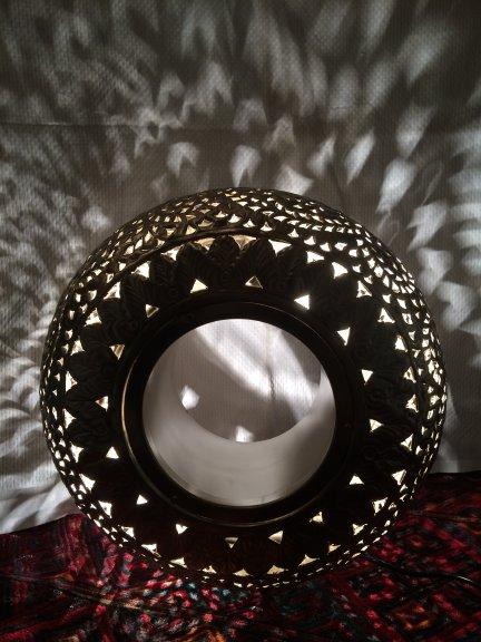 Staande lamp ring filigrain metaal  (2)