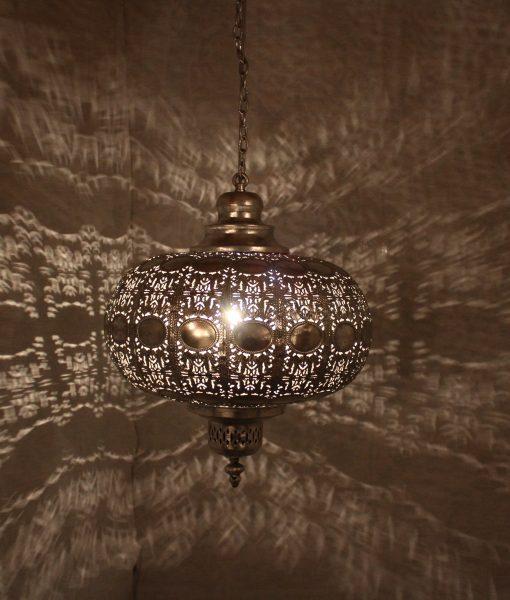 indiase hanglamp zilver klein gomsa webshop