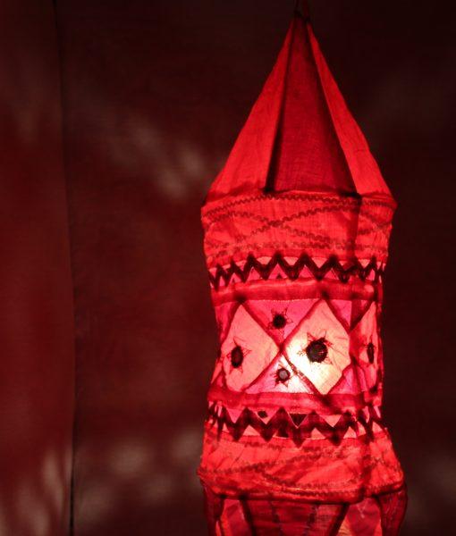 indiase hanglamp stof rood gomsa webshop