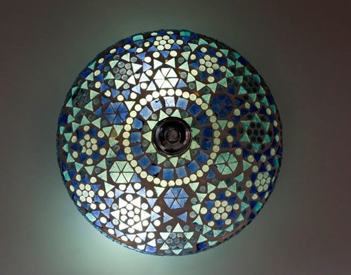 Plafonniere Blue : Oosterse mozaïek plafonniere u2013 25cm blauw gomsa webshop