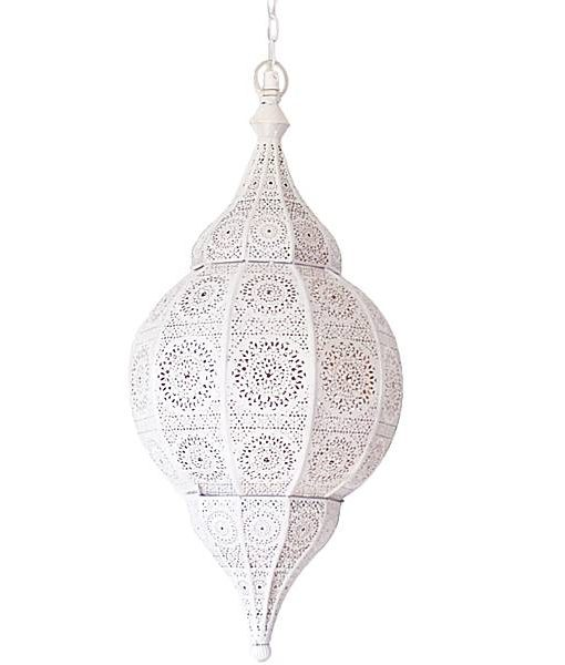Marokkaanse Spiegel Groot.Hanglamp Oosters Groot Wit