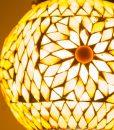 LHM15-BR-BEI-TD-oosterse hanglamp mozaiek, orientals