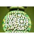 LHM15-GREEN-TD-oosterse hanglamp mozaiek, orientals