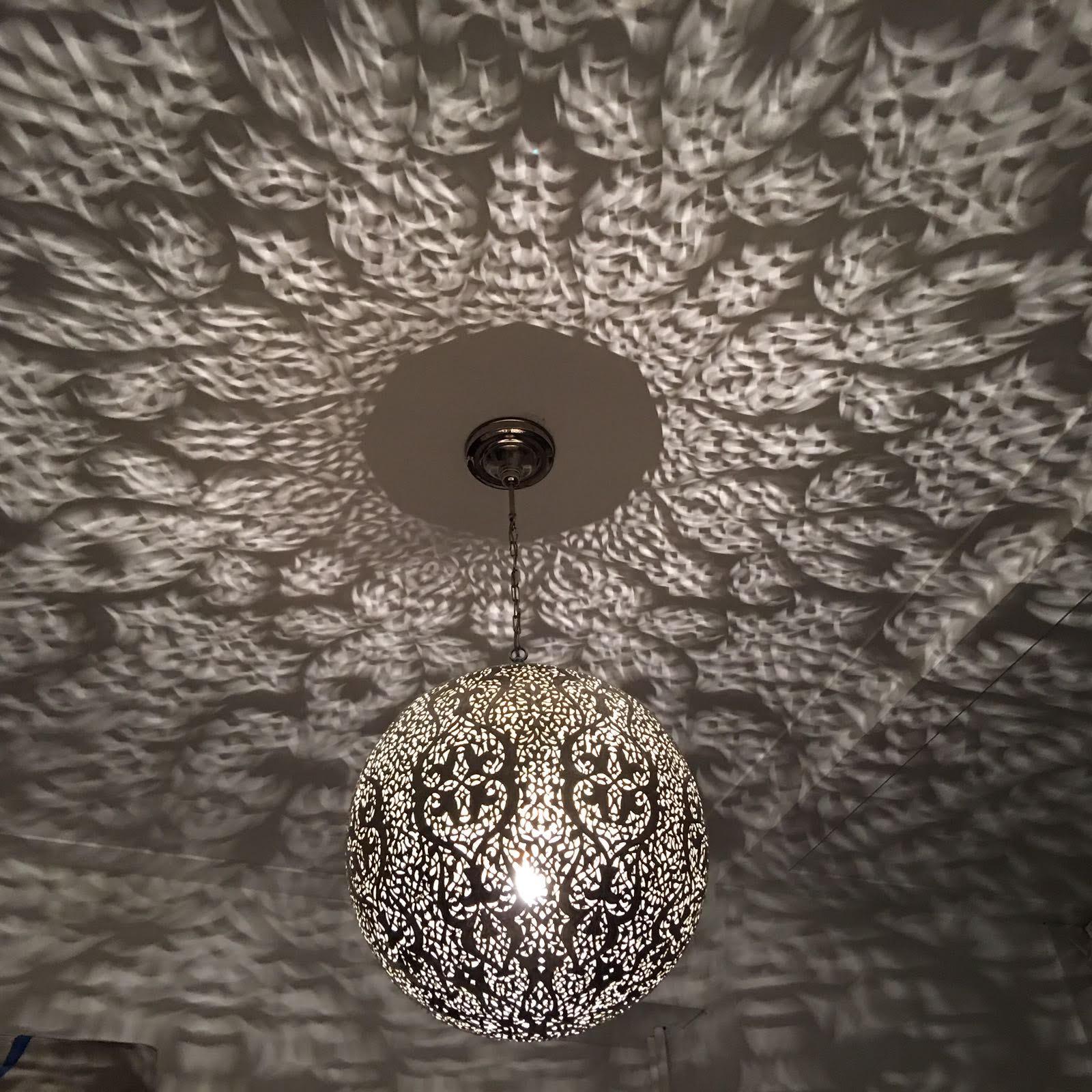 Ongebruikt Marokkaanse Bol Hanglamp Zilver Klein - Gomsa Webshop CG-85